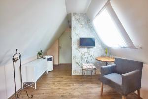 TV a/nebo společenská místnost v ubytování Penzion Kostnický dům