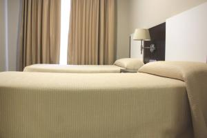 A bed or beds in a room at Apartahotel & Spa Jacetania