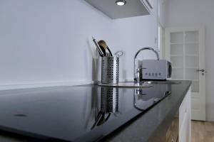 Køkken eller tekøkken på Dragør Hotel & Apartments