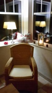 Ein Sitzbereich in der Unterkunft Ferienhaus Nordwind