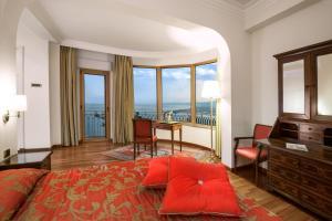 Coin salon dans l'établissement Hotel Villa Diodoro