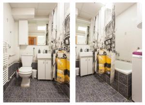A bathroom at Tina Apartments
