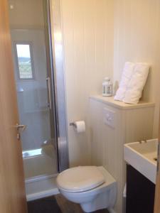 A bathroom at Sumarhúsin Signýjarstöðum