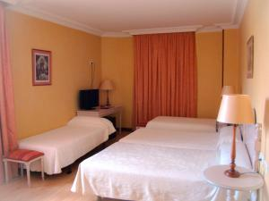 A bed or beds in a room at Hotel San Camilo