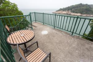 A balcony or terrace at No. 55 Hostel