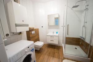 A bathroom at Apartament Zebcowska