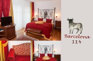 Ein Bett oder Betten in einem Zimmer der Unterkunft Hotel Henry