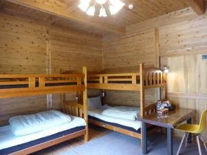 A bunk bed or bunk beds in a room at Pension Blue Drop