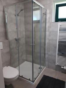 Koupelna v ubytování Viñas