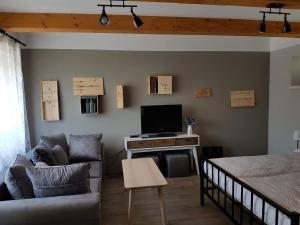 TV a/nebo společenská místnost v ubytování Viñas