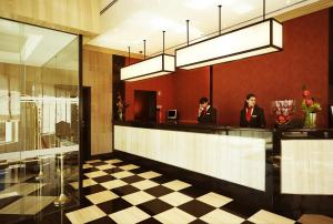 The lobby or reception area at Hotel Real Oeiras