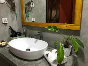 Een badkamer bij Hotel Heladiv