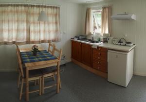 A kitchen or kitchenette at Oddestemmen Camping