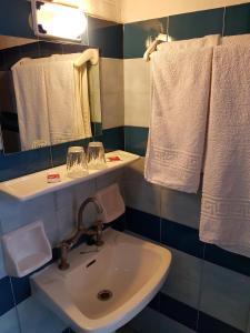 A bathroom at Kalypso