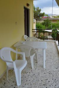 A balcony or terrace at Eva Apartments