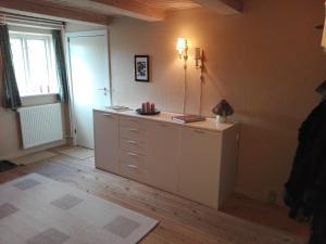 A kitchen or kitchenette at Moen Oekologisk Bed & Breakfast