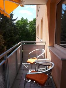 A balcony or terrace at Apartment Nannerl