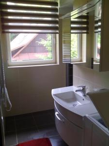 Koupelna v ubytování Apartman U sjezdovky
