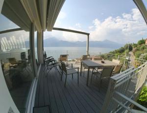 A balcony or terrace at Residence La Mignon - Terrazza