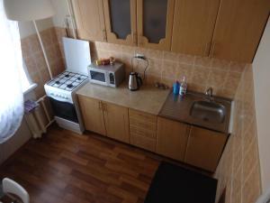 Кухня или мини-кухня в Apartment on Leningradskaya 7