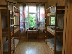 A bunk bed or bunk beds in a room at Funky Monkey Hostel