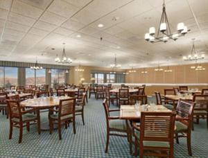 A restaurant or other place to eat at Ramada by Wyndham Greensburg Hotel & Conference Center