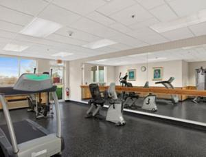 The fitness center and/or fitness facilities at Ramada by Wyndham Greensburg Hotel & Conference Center