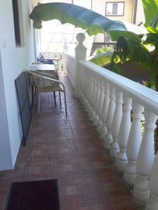 A balcony or terrace at Guest house Atlantik