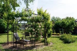 A garden outside Villa Chanelle