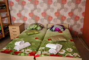 A bed or beds in a room at Pie Jāņa Brāļa