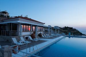 The swimming pool at or close to Little Bird Lesvos