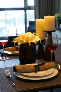 A restaurant or other place to eat at Ascott Orchard Singapore (SG Clean, Staycation Approved)