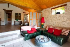 A seating area at Moulin de Cocussotte