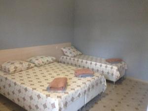 Кровать или кровати в номере Guest House Belaya Lebed