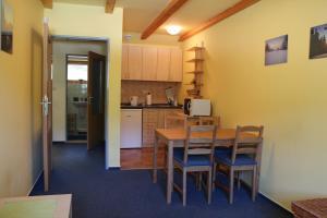 Kuchyň nebo kuchyňský kout v ubytování Apartmán Skicentrum Říčky