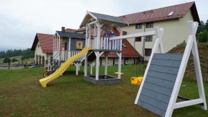 Children's play area at Leśny Kurort w Gierczynie
