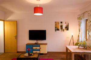 A television and/or entertainment center at PinkDeer