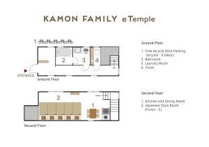 Kamon Family eTemple カモン ファミリー イーテンプルの見取り図または間取り図