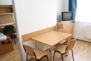 A television and/or entertainment center at Pannon Egyetem - Központi Kollégium