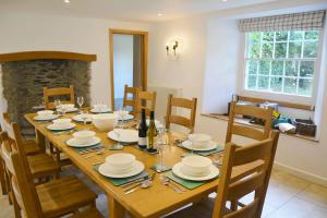A restaurant or other place to eat at Trencreek Farmhouse