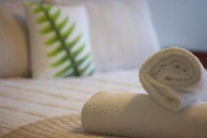 Een bed of bedden in een kamer bij Stumpers