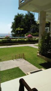 A garden outside Ocean Resort Amed