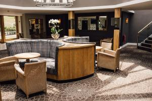 The lobby or reception area at Manor House Hotel, Alsager