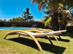 Jardín al aire libre en Hotel Conde Navío