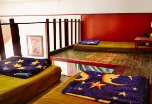 A seating area at Mandala Hostel