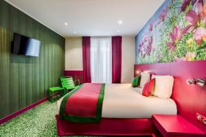 Cama o camas de una habitación en Jardins de Montmartre