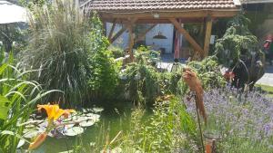 A garden outside La Grange en Champagne