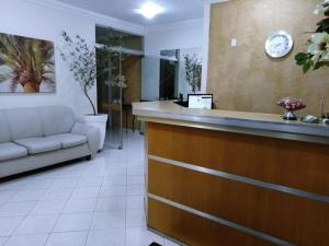The lobby or reception area at Hotel Marfim I