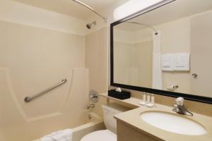 A bathroom at Travelodge by Wyndham Edmonton South