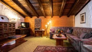 Ein Sitzbereich in der Unterkunft Appartementanlage Kerber